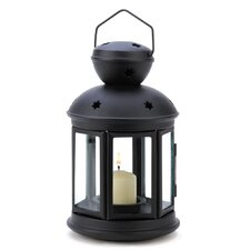 Old World Iron and Glass Lantern