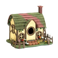 Mossy Cottage Free Standing Birdhouse