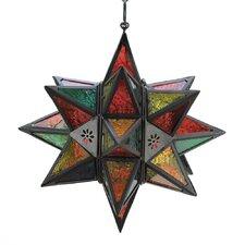 Jewel Tone Moroccan Style Star Lantern