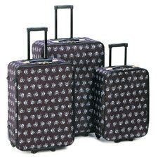 Jolly Roger Skull 3 Piece Luggage Set