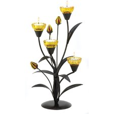 Wildflower Iron Candelabra