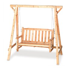 Rustic Bench Swing