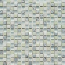 "Flare Series 12"" x 12"" Mixed Glass and Stone Mosaic in Mons"
