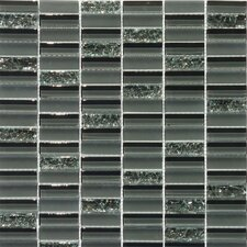 Jayda Series Mixed Crackled Glass Mosaic in Smoke