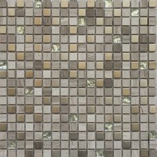 Fusion Series Mixed Metal Glass Marble Mosaic