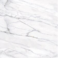 "Calacatta High Definition 18"" x 18"" Porcelain Matte Tile in White"
