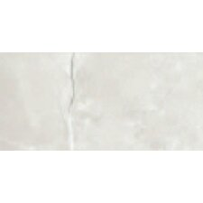"Classic High Definition 6"" x 3"" Porcelain Bullnose Glossy Tile in Ivory"