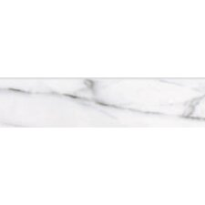 "Calacatta High Definition 12"" x 3"" Bullnose Tile Trim in White"