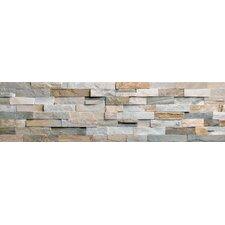 """Beach Ledge 24"""" x 6"""" Corner Split Face Tile Trim in Multi Color"""