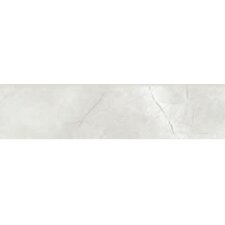 "Classic High Definition 12"" x 3"" Porcelain Bullnose Matte Tile in White"