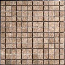 "Emperador Light Marble Mosaic Polished 12"" x 12"" Tile in Beige and Brown"