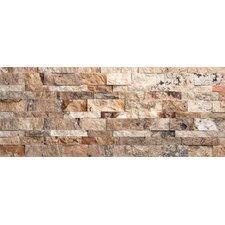 "Nebula Travertine Split Face Wall Cladding 20"" x 7"" Tile in Mix Rustic"