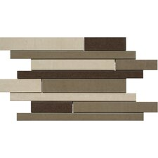 "SGT Random Strip Mosaics Forest 18"" x 12"" Porcelain Polished Tile in Mix"