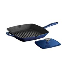 "Enameled Cast Iron Series 1200 11"" Grill Pan"