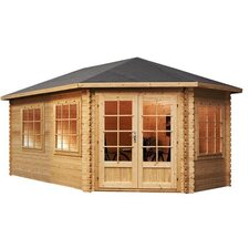 Corner Lodge Cabin for Left Sided Gardens