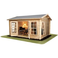 <strong>Mercia Garden Products</strong> Home Office Director Log Cabin with Double Door