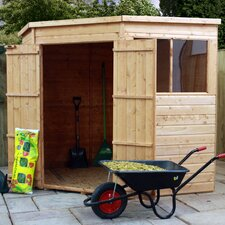 Shiplap OSB Corner Shed with Double Door