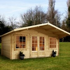 Haven Log Cabin with Opening Windows