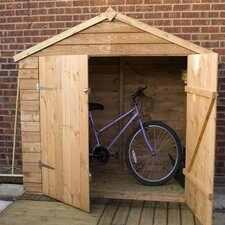 Overlap Bike Store Shed with Wide Doors