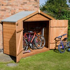Shiplap Bike Store Shed with Double Doors and Pad Bolt