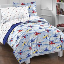 Planes and Clouds 5 Piece Bed Set