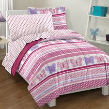 <strong>Dream Factory</strong> Butterfly Dots Bed Set