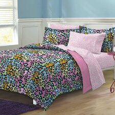 Neon Leopard 5 Piece Bed in a Bag Set