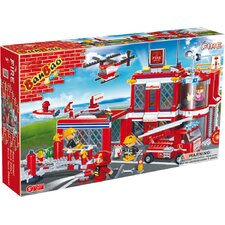 Fire Brigade 702 Piece Fire Station Block Set