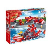 Fire Brigade 392 Piece Fire Car and Ship Block Set