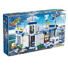 718 Piece Police Station Block Set