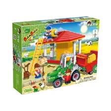 <strong>Banbao</strong> 448 Piece Tractor and Hay Storage Block Set