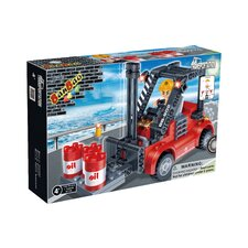Docks 128 Piece Forklift Truck Block Set