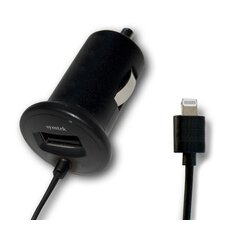 TekPower Car Charger with Lightning Connector and USB Power Port