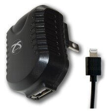 TekPower USB AC Charger with Charge and Sync Cable with Lightning Connector