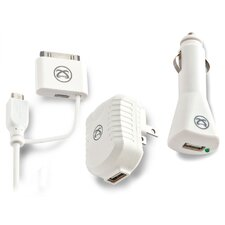 TekPower Universal USB Charging Trio