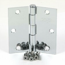 3.5'' H x 3.5'' W Square Radius Corner Door Hinge (Set of 2)