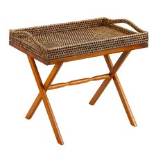 <strong>Gate House Furniture</strong> Natural Rattan Rectangular Serving Tray