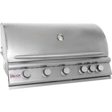 "40"" 5-Burner Built-In Gas Grill with Rear Infrared Burner"