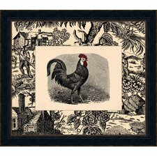 Toile Roosters IV Framed Art