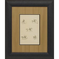 Illustration of Paces, About to Leap Framed Art