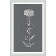 <strong>Melissa Van Hise</strong> White Flora on Gray Linen I Wall Art