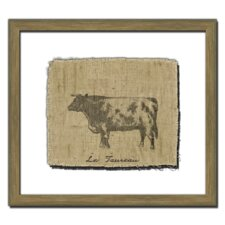 <strong>Melissa Van Hise</strong> Cow on Linen II Wall Art