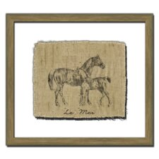 <strong>Melissa Van Hise</strong> Horse on Linen I Wall Art
