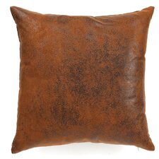 Jazzy Plain Faux Leather Pillow