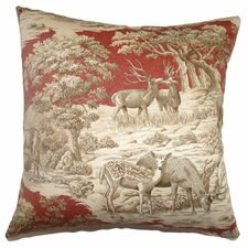 <strong>The Pillow Collection</strong> Feramin Toile Cotton Front Pillow