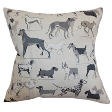 <strong>The Pillow Collection</strong> Wonan Dogs Print Cotton Pillow