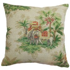 <strong>The Pillow Collection</strong> Editha Toile Cotton Pillow
