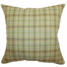 Adelasia Plaid Cotton Pillow