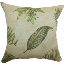 <strong>The Pillow Collection</strong> Barsia Leaf Cotton Pillow