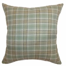 <strong>The Pillow Collection</strong> Wacian Plaid Cotton Pillow
